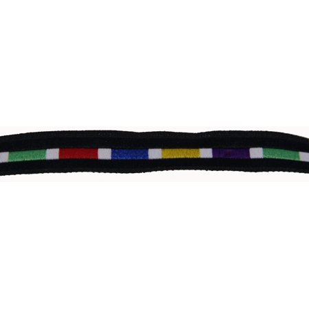 Road Braided Compact - 7/16 Inch Rainbow Brick Road Woven Jacquard Braid Ribbon - Various Lengths
