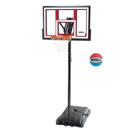 Lifetime Adjustable Portable Basketball Hoop (Rubber Basketball Included),