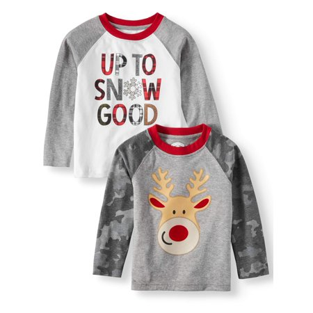 accded4dcb60 Christmas - Toddler Boys' Christmas Long Sleeve T-Shirts, 2-Pack ...