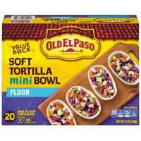 (2 Pack) Old El Paso Taco Boats Mini Flour Tortillas, 20 Ct, 8.5 oz