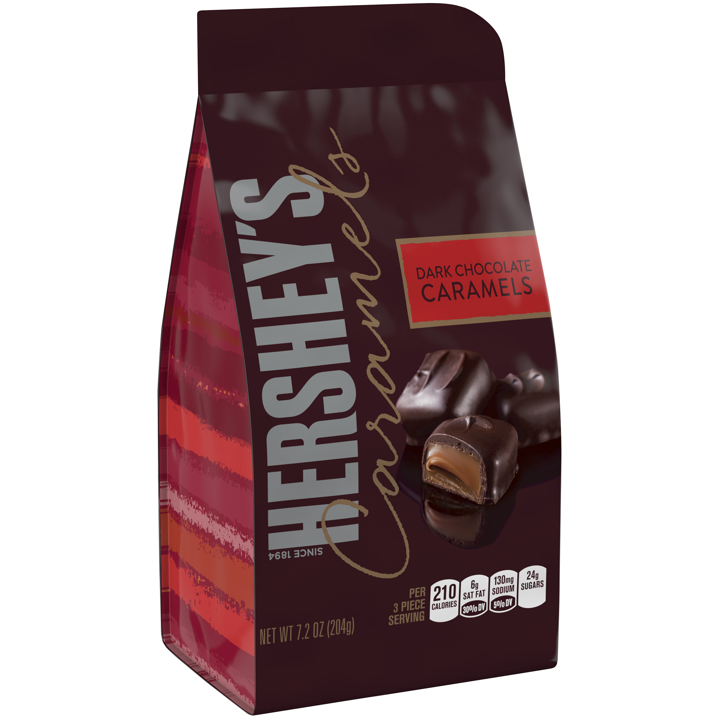Hershey's Caramels Dark Chocolate Caramels 7 oz by Hershey Foods