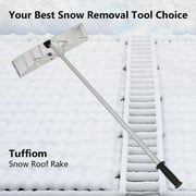 UBesGoo Roof Rake Snow Removal Tool Lightweight Extendable for Clearing Snow on Rooftop