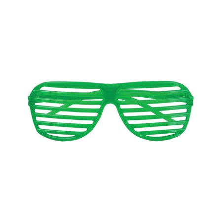80's Neon Green Shutter Shade Toy Sunglasses Party Favors Costume Accessory