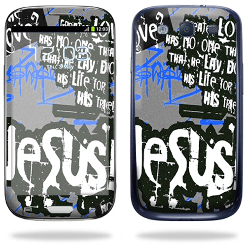 Mightyskins Protective Vinyl Skin Decal Cover for Samsung Galaxy S III S3 Cell Phone wrap sticker skins Love Jesus