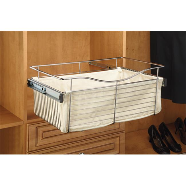 HD RSCBL241418.T Wire Pullout Baskets, Cloth Liners - Tan, 24 x 14 x 18