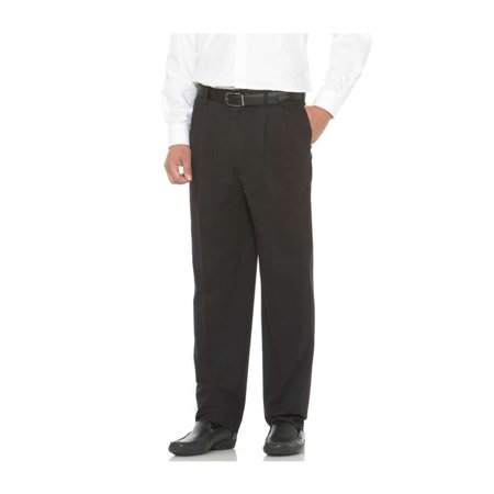 - Savane Big and Tall S9SB0041-010 Performance Pleated Chino Pant BLACK 44-28
