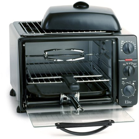 elite platinum 23 liter toaster oven with rotisserie convection fan grill griddle top with. Black Bedroom Furniture Sets. Home Design Ideas