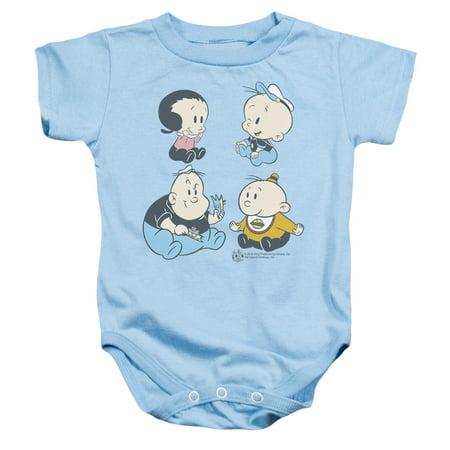 Popeye Four Friends Unisex Baby Snapsuit - Baby Popeye