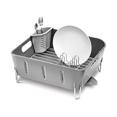 simplehuman compact dish rack, grey plastic - Walmart.com