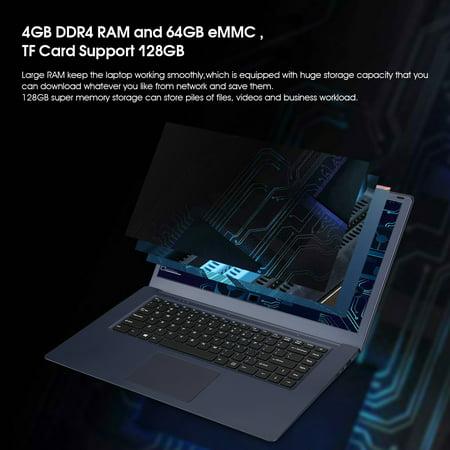 T-BAO Ultra Thin 15 6 inch laptop Computer intel Apollo Lake Celeron Z8350  4GB Ram 64GB eMMC, USB 3 0, Bluetooth, Type C, Windows 10 PC, Blue Gray