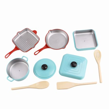 Akoyovwerve Pretend Play Toy Kitchen Playset Pots And Pans Cookware With Utensils For Kids Fun Set Accessories