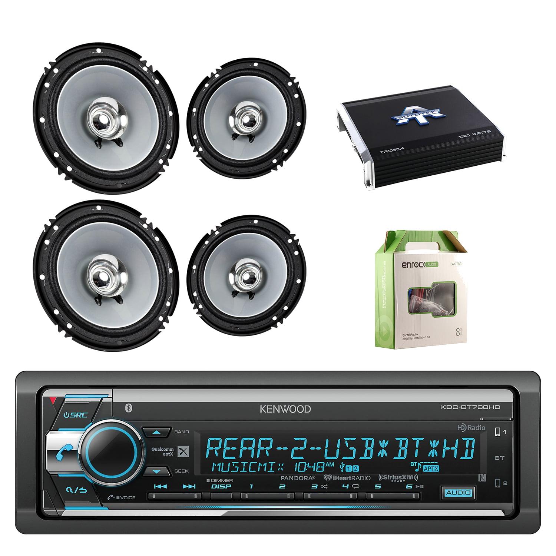 Kenwood Single Din CD AM FM Car Audio Receiver W Bluetooth with Kenwood 6.5 Inch 2-Way 600 Watts Car Audio... by EnrockAutomotive