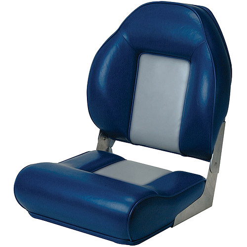 Garelick Citation High Back Premium Fold Down Seat, Blue/Silver