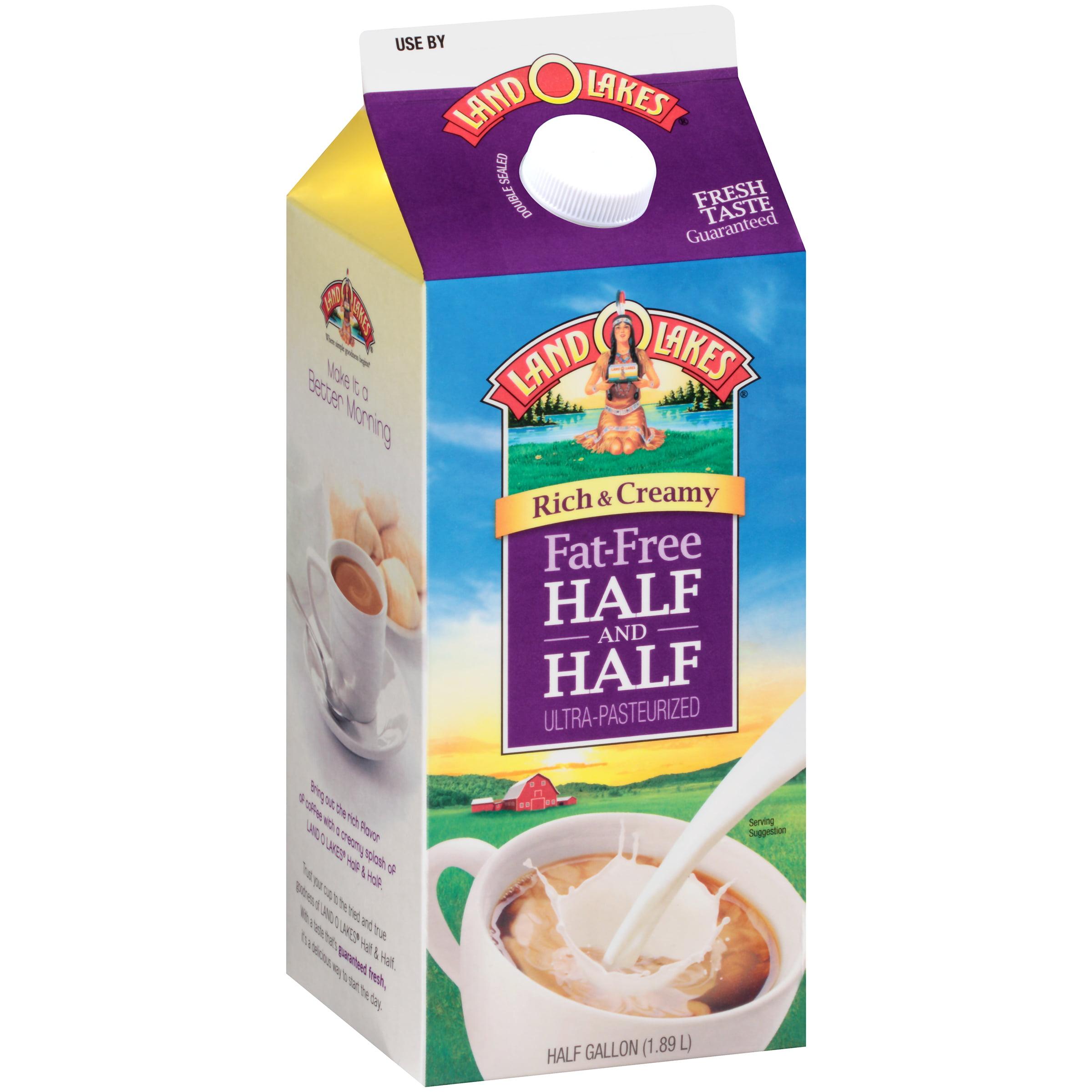 Land O Lakes�� Rich & Creamy Fat Free Ultra-Pasteurized Half and Half 0.5 gal. Carton