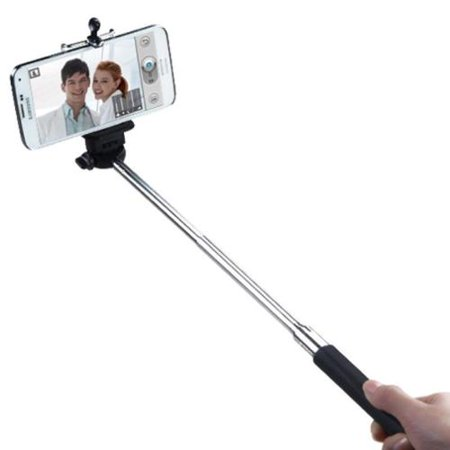 Insten Handheld Bluetooth Selfie Stick Monopod Extendable For iPhone 6 6+ Cell Phones Remote Button