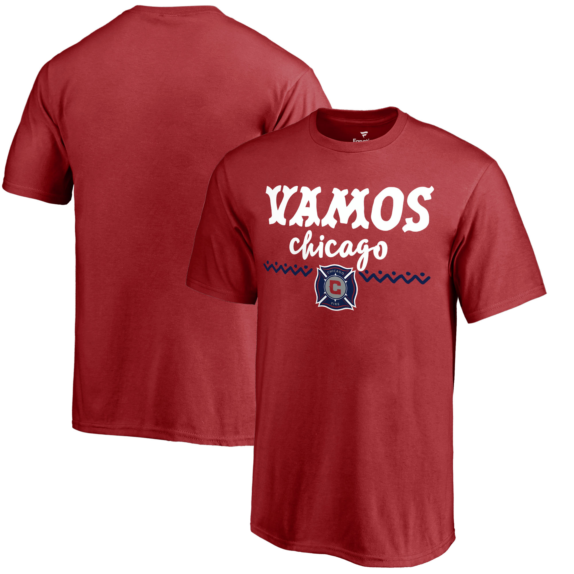 Chicago Fire Fanatics Branded Youth Hispanic Heritage Let's Go T-Shirt - Red