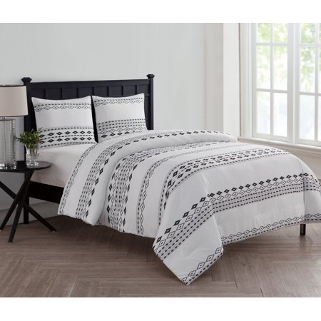 f7adc732e2 VCNY Home Black / White Aztec Printed 2/3 Piece Bedding Comforter Set with  Shams Included - Walmart.com
