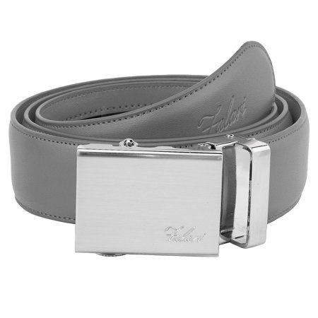 Falari Mens Genuine Leather Ratchet Dress Belt Automatic Sliding Buckle - 20 Variety Colors - Trim to (Belt Wine)