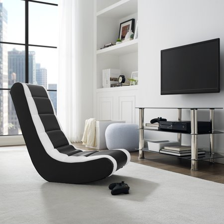 Dwell Meshed Faux Leather Video Rocker - Available in Multiple Colors