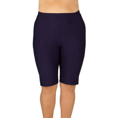 Women's Plus-Size Long Swim Shorts - Available in 2 COLORS - 2X (18W-20W) / Navy