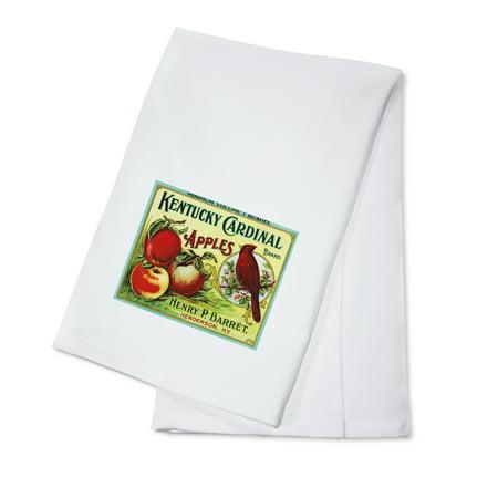 Apple Kitchen Tea Towel - Henderson, Kentucky - Kentucky Cardinal Brand Apple - Vintage Label (100% Cotton Kitchen Towel)
