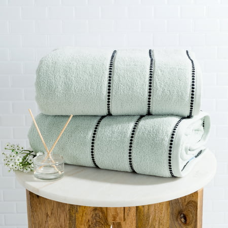 Dry Trimite Sheet (Luxury Cotton Towel Set- 2 Piece Bath Sheet Set Made From 100% Zero Twist Cotton- Quick Dry, Soft and Absorbent By Somerset Home)