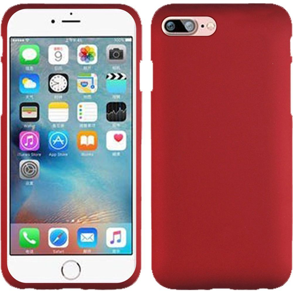 iPhone 8 Case, iPhone 7 Case, by Insten Hard Rubberized Case For Apple iPhone 8 / iPhone 7 - Red