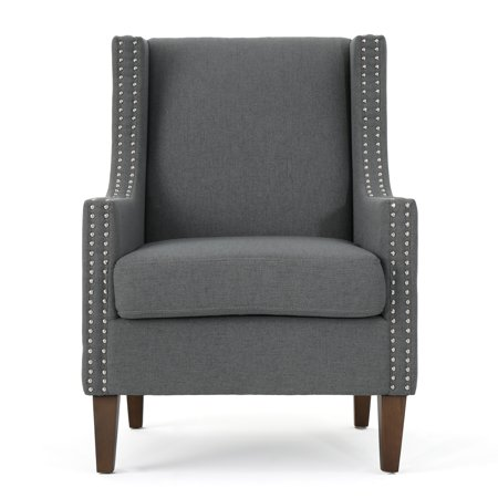 Kaela Traditional Fabric Arm Chair Charcoal Walmart Com