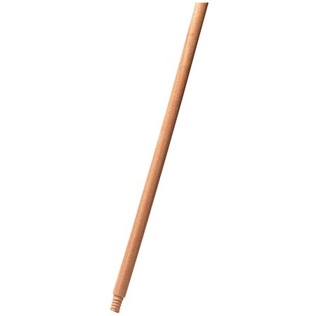 Rubbermaid FG636100LAC Threaded Broom Handle, 1-5/16 in Dia, 60 in L, Wood, Lacquer, -