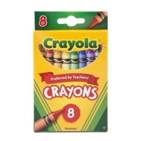 Crayola Washable Large 8 Colors Crayons Wash From Most Clothing (Pack Of 48)