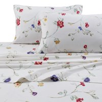 Printed Flannel 4 Piece Sheet Set by Tribeca Living - Floral Garden