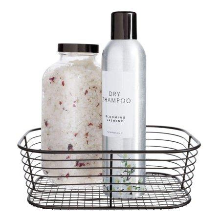 InterDesign Vienna Vanity Basket for Cosmetics and Makeup Storage, Bathroom, Countertop, and Desk Small