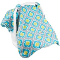 Carseat Canopy Baby Car seat Cover Blanket with Minky interior Kennedy
