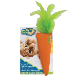 Cosmic 100-Percent Catnip Filled Carrot, 24 Karat Multi-Colored by OURPET'S