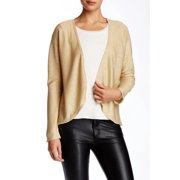 Olivia Sky NEW Gold Shimmer Women's Size Small S Open Front Cardigan $68