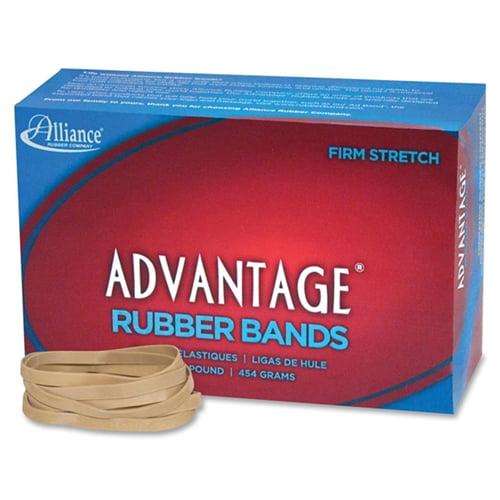 """Advantage Rubber Bands Size 64 1LB. 3-1/2""""X1/4"""" Natural 26645"""