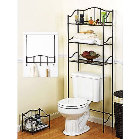 3 piece complete bath storage set. Black Bedroom Furniture Sets. Home Design Ideas