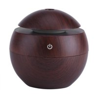 Ultrasonic Essential Oil Diffuser, LED Touch Aromatherapy Aroma Cool Mist Humidifier, USB Power Supply for Office Home Bedroom(Brown)