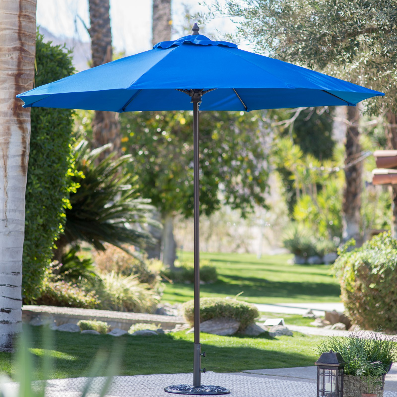 Coral Coast 9 Ft. Sunbrella Commercial Grade Aluminum Wind Resistant Patio  Umbrella
