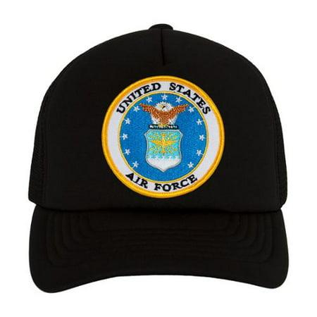 U.S. Airforce Emblem Black Trucker Hat