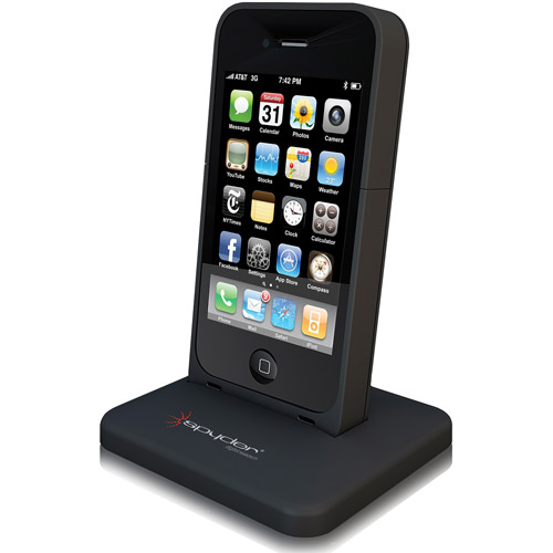 Spyder i4 Power Shadow Series 2000mAh Battery Case for Apple iPhone 4 and 4S