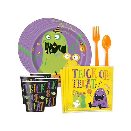 Halloween Tableware Set (Silly Halloween Monsters Standard Tableware Kit (Serves)