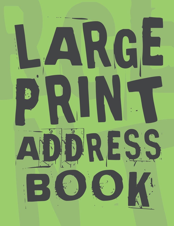 Large Print Address Book: Plenty Of