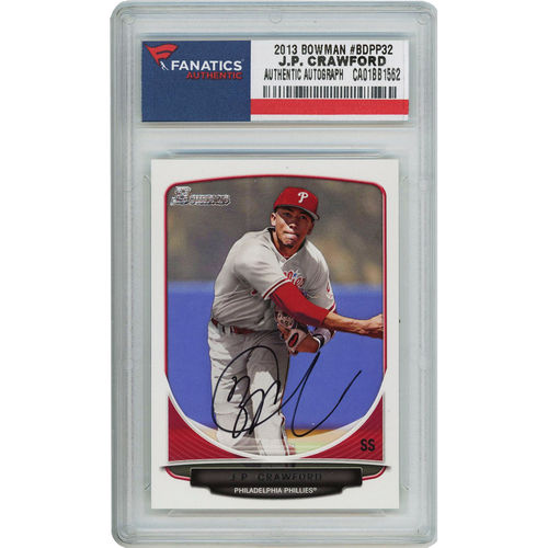 JP Crawford Philadelphia Phillies Fanatics Authentic Autographed 2013 Bowman Rookie #BDPP32 Card - No Size