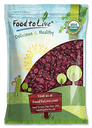 Organic Dried Cranberries, 10 Pounds – Non-GMO, Unsulfured, Bulk – by Food to Live