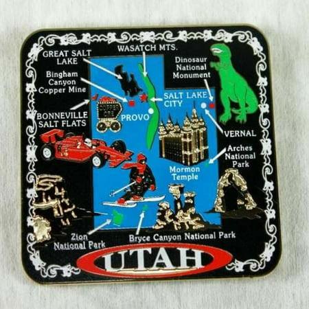 Utah State MAGNET Souvenir Gift Salt Lake City Mormon Temple ()