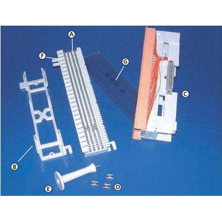 Hellermanntyton T66MC4 Plastic Cover for 66 Block Clear 1-pkg Analog Circuits 66 Block