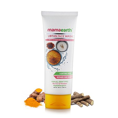 100 Ml Face - Mamaearth Ubtan Natural Face Wash for Dry Skin with Turmeric & Saffron for Tan removal and Skin brightning 100 ml - SLS & Paraben Free