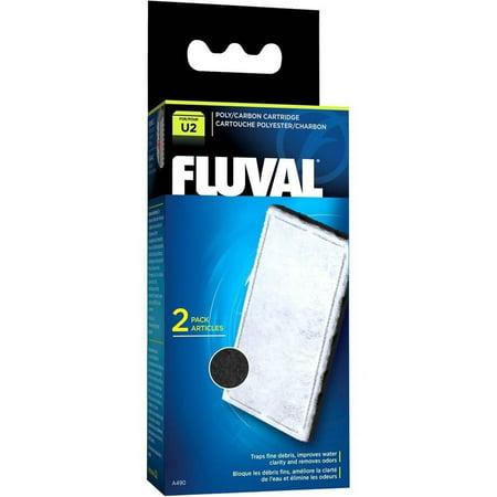 Fluval U2 Filter Poly/Carbon Catridge, 2pk