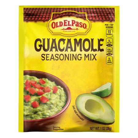 Old El Paso Guacamole Mild Seasoning Mix  1 Oz Packet